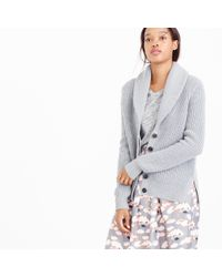 J.Crew | Gray Shawl-collar Cardigan Sweater | Lyst