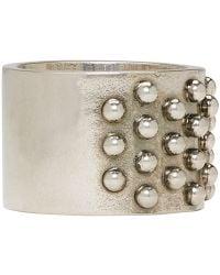 Alexander McQueen - Metallic Silver Liliput Ring for Men - Lyst