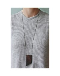 Spectrum | Purple Angled Walnut Necklace | Lyst