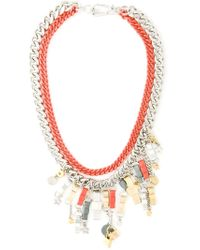 Marc By Marc Jacobs | Metallic 'all Tied Up' Necklace | Lyst