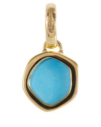 Monica Vinader | Metallic Mini Gold Vermeil Turquoise Atlantis Pendant | Lyst