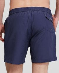 Psycho Bunny - Blue Bath Solid Swim Trunks for Men - Lyst