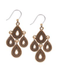 Lucky Brand | Metallic Chandelier Earrings | Lyst