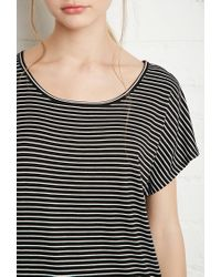 Forever 21 | Black Boxy Stripe Top | Lyst
