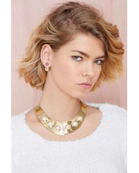 Nasty Gal - Metallic Boss Around Collar Necklace - Lyst