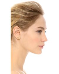 Elizabeth and James - Metallic Roni Hoop Earrings - Gold/clear - Lyst
