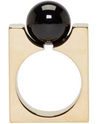 Chloé | Metallic Gold Square Darcey Ring | Lyst