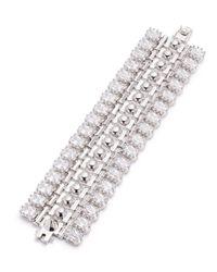 Eddie Borgo - Metallic Dome Crystal Estate Cuff Bracelet - Lyst