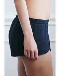 Forever 21 - Black Silky Pj Shorts - Lyst