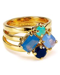 kate spade new york | Blue Cluster Rings, Set Of 3 | Lyst