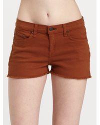 Rag & Bone | Brown Cut-off Denim Shorts | Lyst