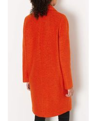 TOPSHOP | Orange Wool Boyfriend Coat | Lyst