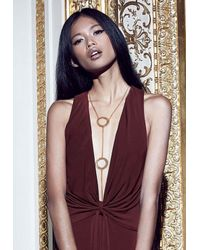 Missguided - Metallic Peace + Love Disk Body Chain Gold - Lyst