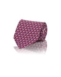 Ferragamo - Red Men's Elephant-print Twill Necktie for Men - Lyst