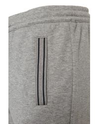 BOSS Green - Gray Regular-fit Jogging Trousers 'hadim' In Cotton Blend for Men - Lyst