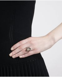 Carolina Bucci - Multicolor 18Kt Sandblasted Rose Gold Letter Ring - Lyst