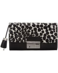 Michael Kors | Black Gia Clutch With Lock | Lyst