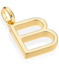 Monica Vinader - Metallic Gold-plated Alphabet Pendant B - Lyst