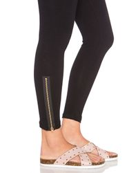 LNA - Black Zipper Legging - Lyst