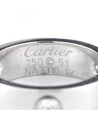 Cartier | Metallic Pre-Owned: 18Kw Gold Diamond Love Ring | Lyst