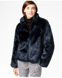 Michael Kors | Green Michael Short Faux Fur Coat | Lyst