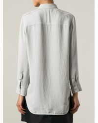 IRO - Gray 'Badia' Long Blouse - Lyst