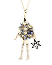 Servane Gaxotte - Metallic Doll Pendant Necklace - Lyst