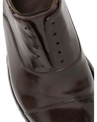 Officine Creative - Brown Brushed Leather Laceless Oxford Shoes for Men - Lyst