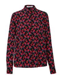 Dorothee Schumacher - Red Radical Flower Blouse 1/1 - Lyst