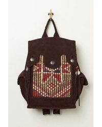 Free People - Brown Cut N Paste Womens Royale Distressed Backpack - Lyst
