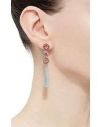 "Shawn Ames - Multicolor One-Of-A-Kind ""Signature Sucre"" Pink Sapphires, Red Sapphires And Aquamarine Earrings - Lyst"
