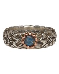 Laurent Gandini | Metallic Silver And Rose Gold Labradorite Ring | Lyst