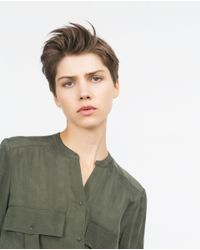 Zara | Natural Flowing Shirt | Lyst