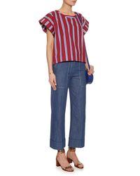 Stella Jean - Purple Striped Cotton Top - Lyst