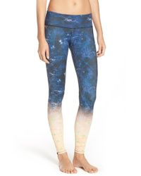 Onzie   Blue Graphic Jersey Pants   Lyst