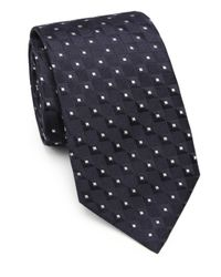 Armani - Blue Square Neat Silk Tie for Men - Lyst