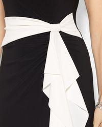 Ralph Lauren - Black Lauren Gown Matte Jersey Color Block - Lyst