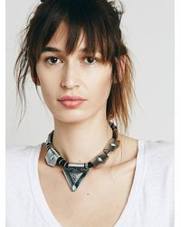Free People - Metallic Roped In Collar - Lyst