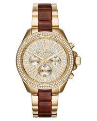 MICHAEL Michael Kors | Metallic 'wren' Chronograph Bracelet Watch | Lyst