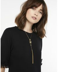 Accessorize - Metallic Boho Tassel Lariat Necklace - Lyst