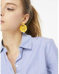 Accessorize - Multicolor Beaded Fringe Disc Earrings - Lyst
