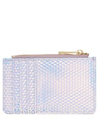 Accessorize - Blue Holographic Shoreditch Ziptop Card Holder - Lyst