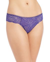 Chantelle | Blue Illusion Lace Tanga | Lyst