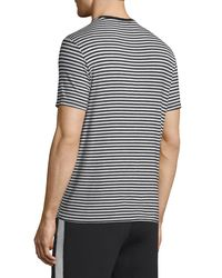 ATM - Black Striped Short-sleeve Crewneck T-shirt for Men - Lyst