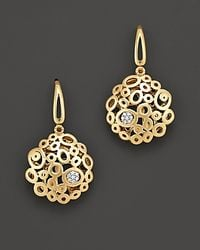 Roberto Coin - Metallic 18 Kt Yellow Gold Mauresque Diamond Earrings - Lyst