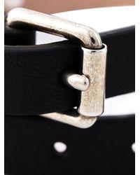 Alexander McQueen | Black Double Wrap Skull Bracelet | Lyst