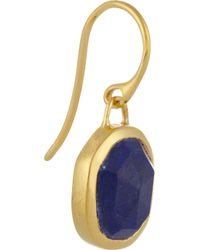 Monica Vinader - Blue Siren Goldplated Lapis Earrings - Lyst
