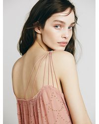 Free People - Pink Embellished One Shoulder Top - Lyst
