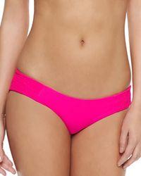 485ef23f36 Lyst - Tori Praver Swimwear Daisy Smocked-side Swim Bottom in Brown