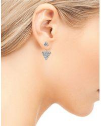 Sam Edelman | Metallic Stone Street Cluster Ear Jacket And Stud Earrings Set | Lyst